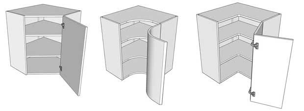Corner wall units
