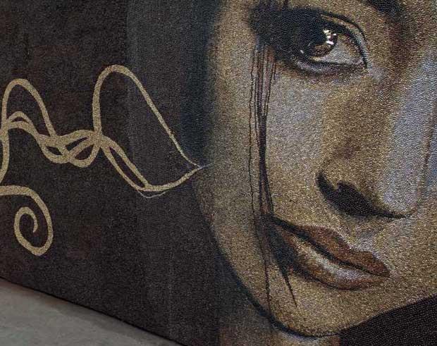 The awakening coffee bean mural