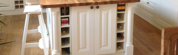 kitchen island open wine rack