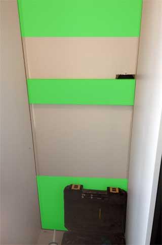 fridge freezer wooden panels
