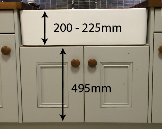 495mm belfast sink unit