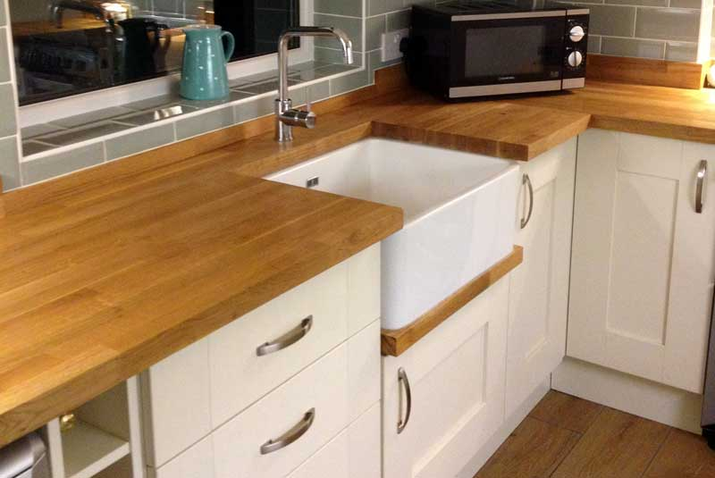 Belfast sink worktop