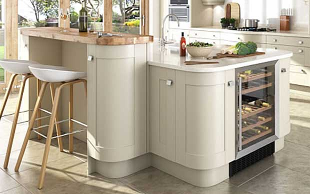 Innova Linwood kitchen split level island