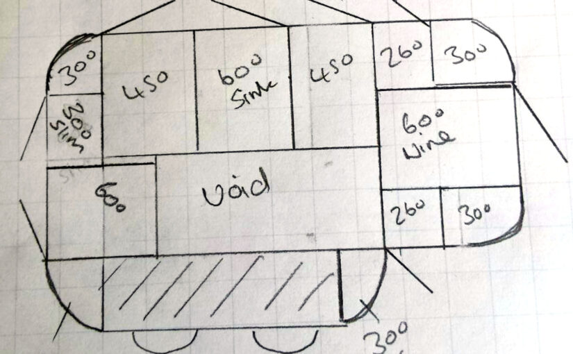 How to create a Linwood split level island