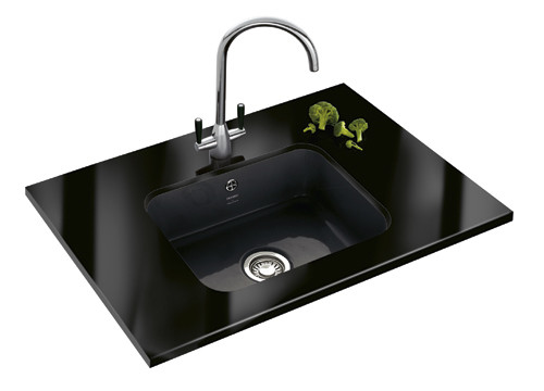Undermount composite sink