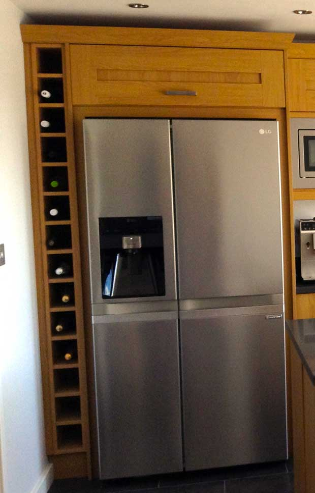 Refrigerator In Kitchen Cabinet