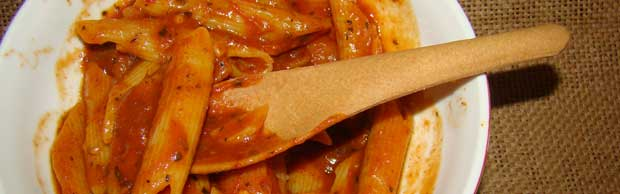 Edible cultery spoon pasta