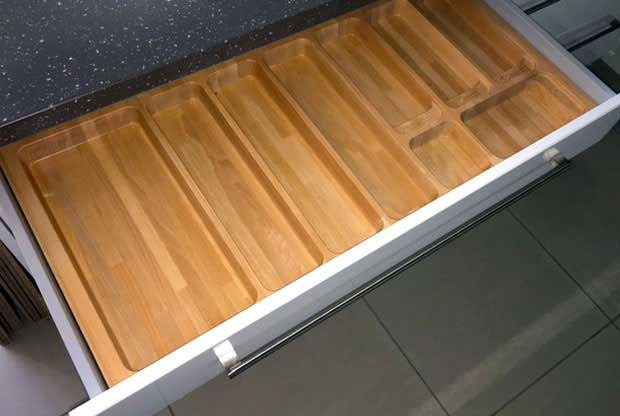 1000mm cutlery insert wood