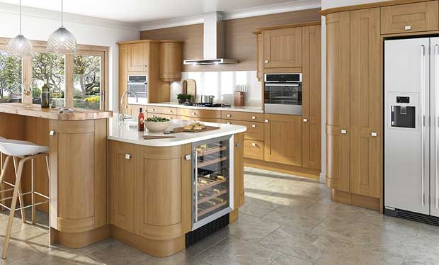 Linwood kitchen curved tall unit