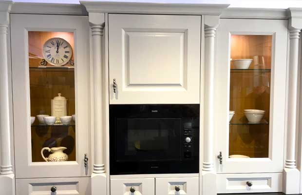 Dresser glazed door example