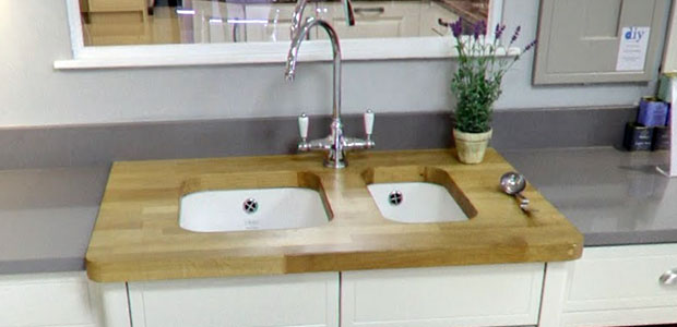 Belfast sink wooden worktop