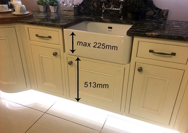 ayton inframe belfast sink unit