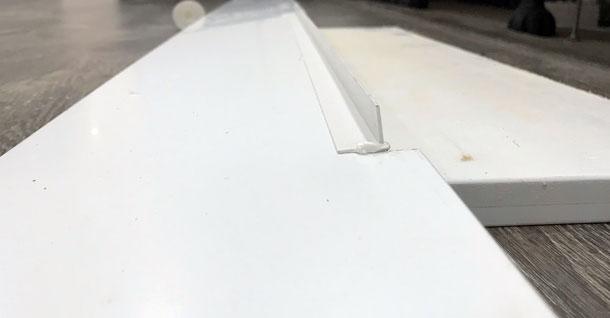 Dishwasher plinth angle moulding