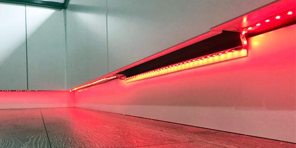 LED lights under dishwasher