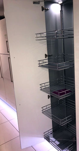 Swing out larder unit