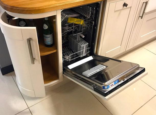 In-frame appliance dishwasher