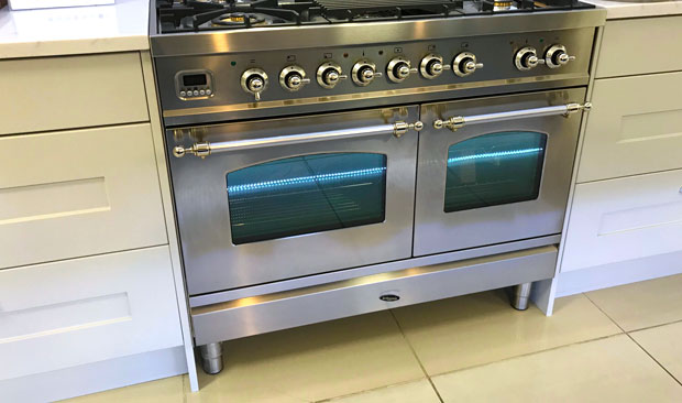 Range cooker end panels