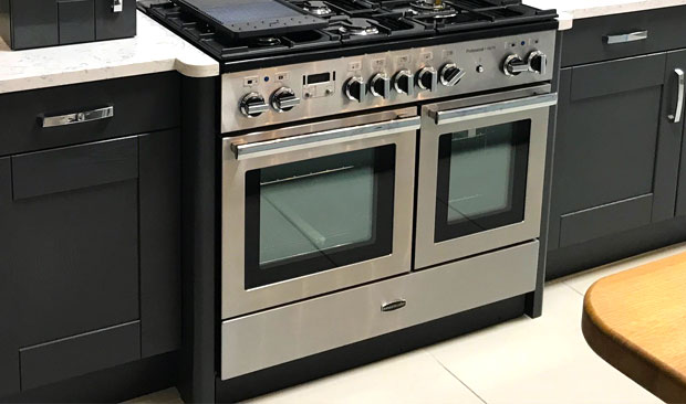 Range cooker radius feature ends