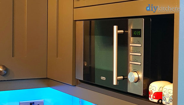 Freestanding microwave in wall unit