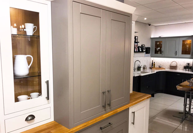 Butlers pantry closed kitchen showroom example