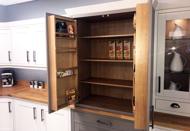 Butlers pantry open kitchen showroom example