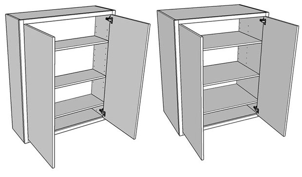 Double dresser units to create a butler's pantry