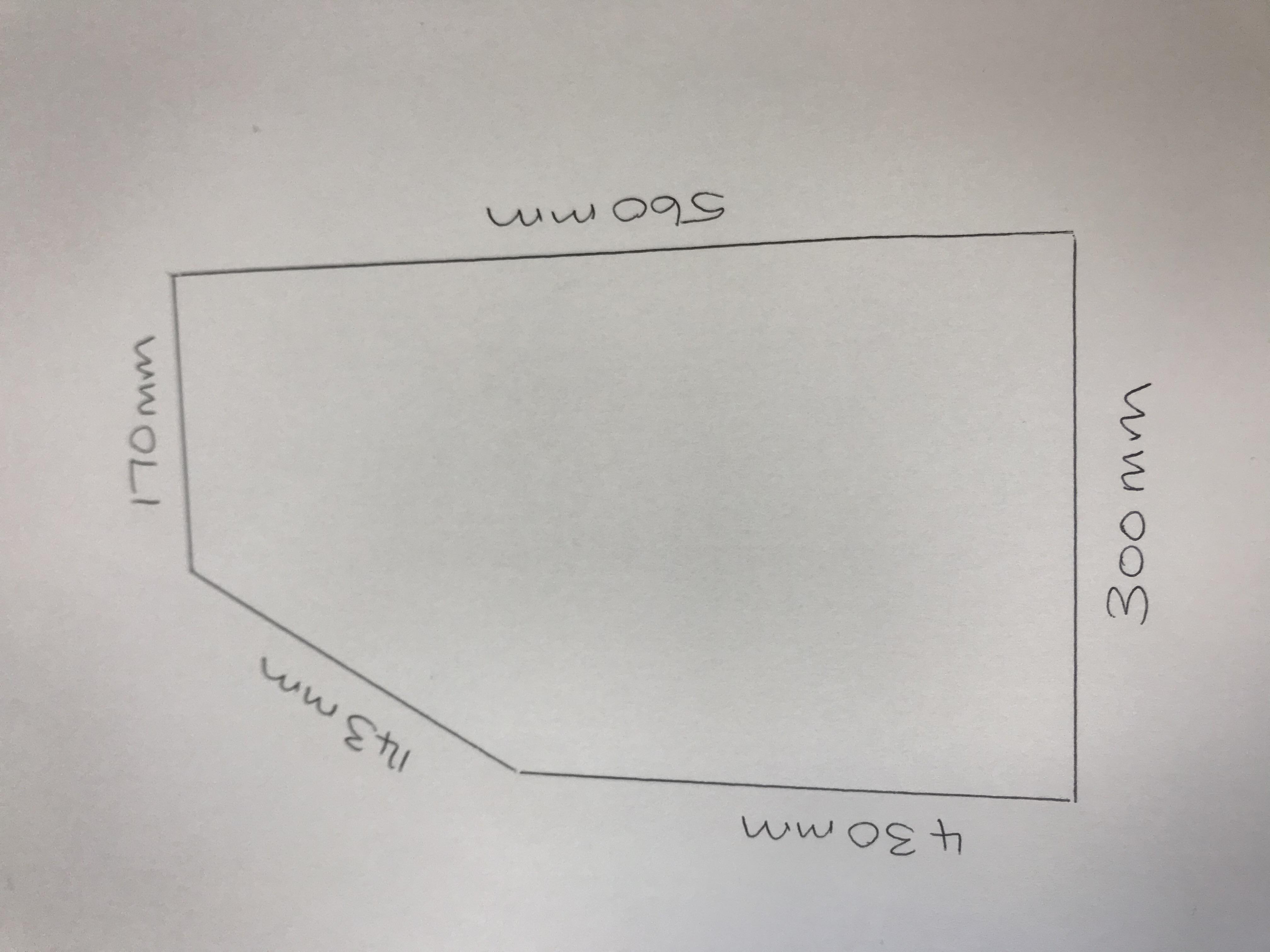 300mm Base End Quadrant Dimensions