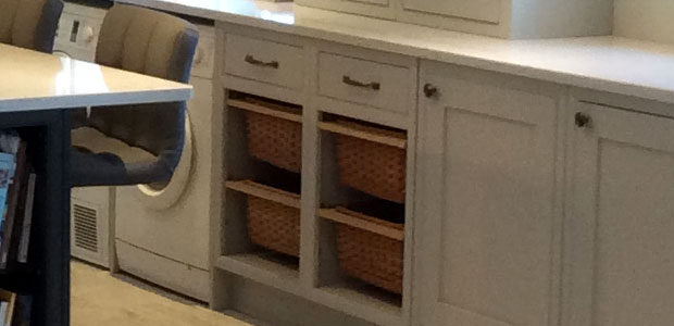 Wicker basket real customer kitchen example 534