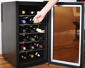 Freestanding wine cooler