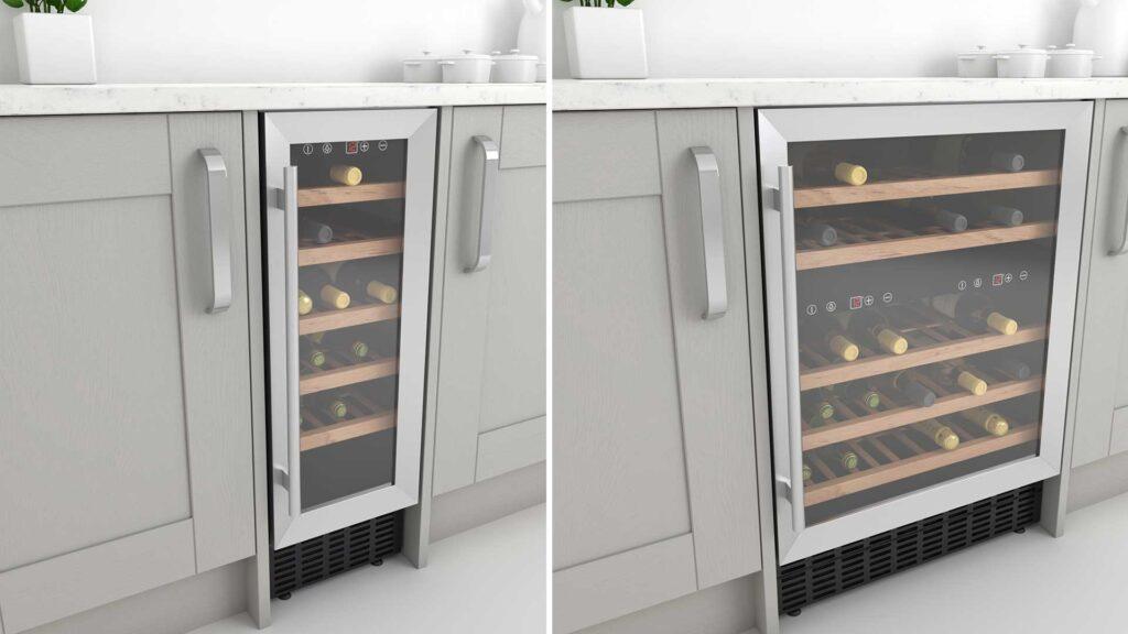 Built under wine coolers